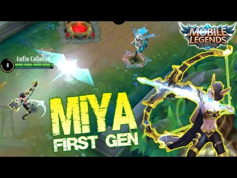 Mobile Legends - Miss Old Gameplay : MIYA First Generation Legendary Kill by General Callahan #Games
