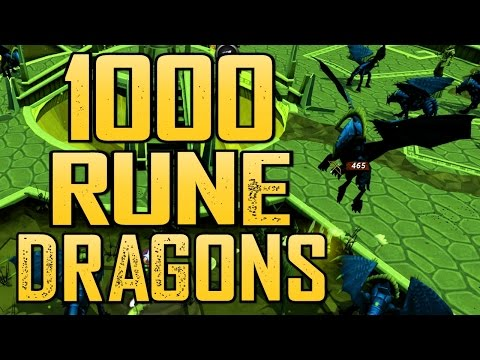 Runescape - Loot From 1000 Rune Dragons!