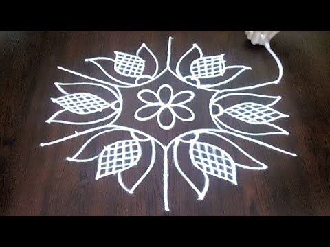 Chukkala Muggulu  Daily 9 x 5 ||  Easy New Rangoli Kolam || Latest Rangoli Ideas || Fashion World
