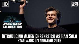 Introducing Alden Ehrenreich as Han Solo at Star Wars Celebration 2016