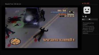 Grand Theft Auto 3 aiming shooting back at the cops gameplay vol.738 Youtube live PS4