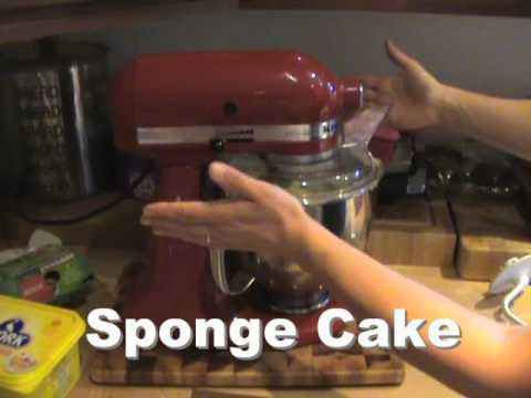 KitchenAid Artisan Stand Mixer - Mixing Demo - Egg Whites and Sponge Cake