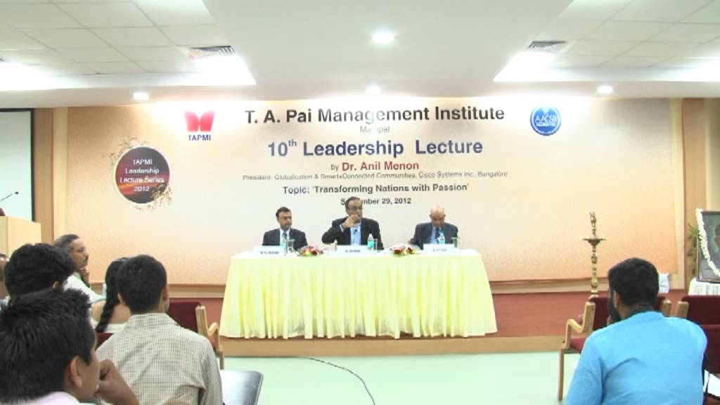 10th Leadership Lecture by Dr Anil Menon Part# 3/4