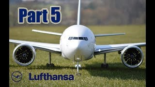 BOEING 777-9X Lufthansa RC airliner Build video Part 5 by RAMY RC