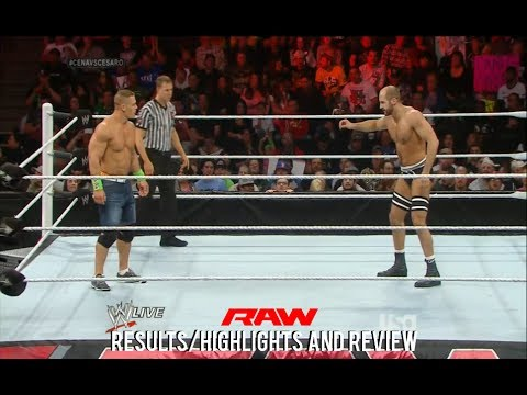 WWE RAW 2/17/14 Results/Highlights & Review, Cesaro vs John Cena, Sheamus vs