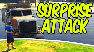 GTA 5 PC Funny Moments - SURPRISE ATTACK!