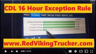 CDL 16 Hours of Service Exception Rule & Recapping Hours | Red Viking Trucker