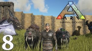 ARK Survival Evolved Gameplay - How to Tame a Sabertooth Tiger - Let's Play Ep8 (1080p 60 FPS)