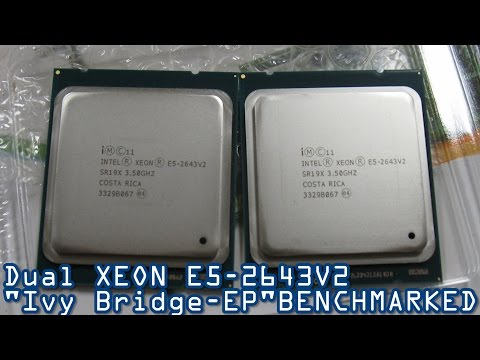 Dual Intel XEON E5-2643V2 Benchmarked - Cinebench & Blender