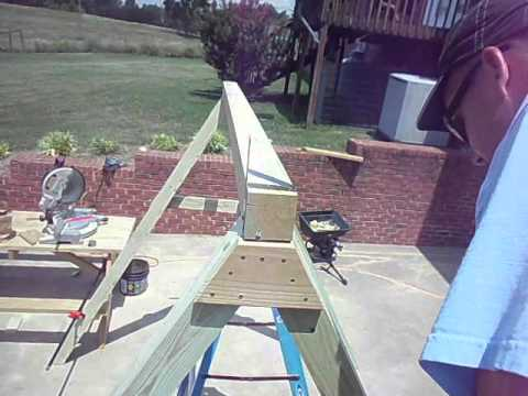 how to build an a frame for a porch swing chapter 3 youtube. Black Bedroom Furniture Sets. Home Design Ideas
