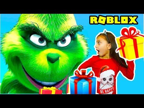 ГРИНЧ похититель Рождества! Спасаем Новый год в Роблокс Roblox Escape The Grinch CHRISTMAS Валеришка