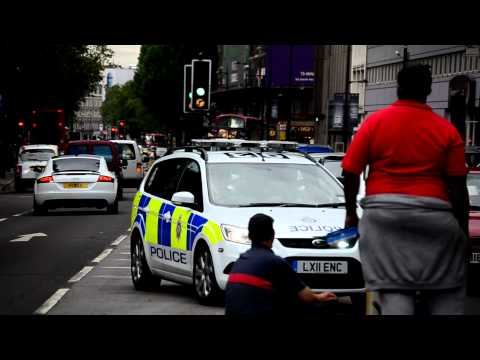 British Transport Police Ford Focus Response Car On Blue's And Two's