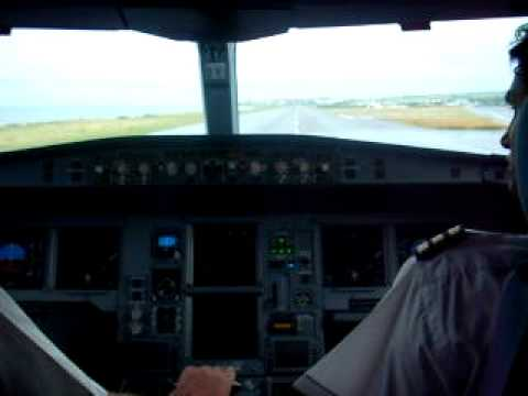 Take off from St. Denis Gillot Airport (FMEE) heading to Mauritius SSR Int. airport (FIMP) in Air Mauritius A340-300E (3B-NBJ - Le Chamarel) in stormy weathe...