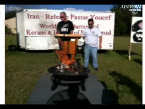 Pastor Terry Jones Burns quran again!