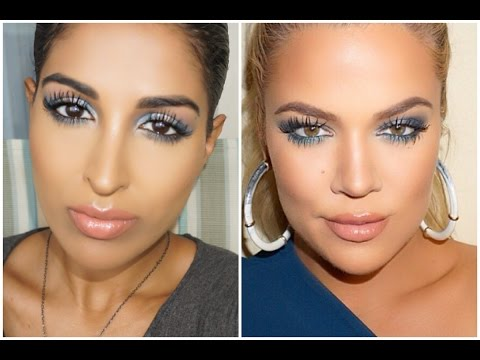 Khloe Kardashian Armenia Inspired Blue Smokey Eyes