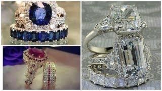 Elegant & Attractive Couples Rings Designs    Stones Beautifull Wedding Rings Designs