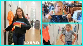 "BUY EACH OTHER BACK TO SCHOOL OUTFITS "" WE GOT KICKED OUT "" SISTERFOREVERVLOGS #550"