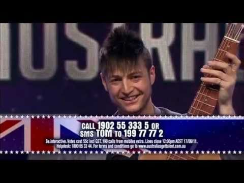 Australia's Got Talent 2011 - Tom Ward (Acoustic Shredding) Music Videos