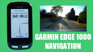 Garmin Edge 1000 Course Navigation