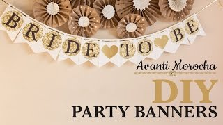 (7.58 MB) DIY Party Banner - Decorations / Decoracion para fiestas Mp3