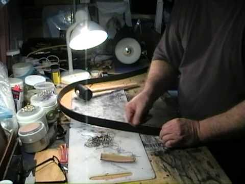 Leatherwork. How to make a leather belt. Part 1