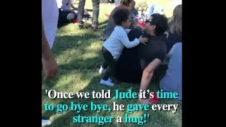 Kind Little Boy Gives Goodbye Hugs To Everyone At Music Festival