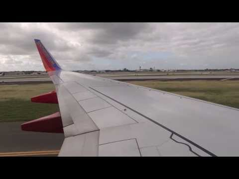 Southwest Airlines, 737-700, landing in West Palm Beach (HD)