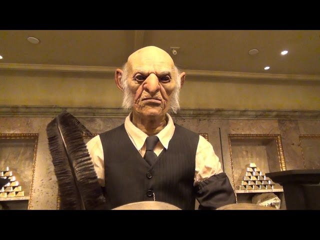 Gringotts Money Exchange Goblin Interaction at Wizarding World of Harry Potter: Diagon Alley