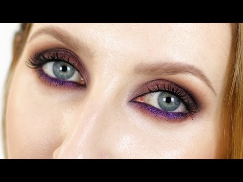 A Warm Cranberry Smokey Smudgy Eye Makeup Tutorial