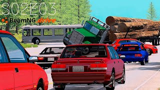 Beamng Drive Movie: Epic Freeway Chase (+Sound Effects) |Part 13| - S02E03