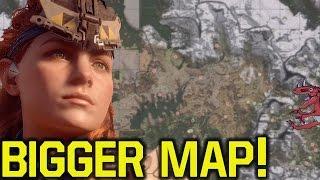 Horizon Zero Dawn - Guerrilla Games SHOWS BIGGER MAP (Horizon Zero Dawn 2 - Horizon Zero Dawn DLC)