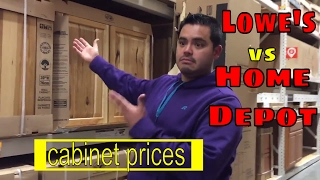 (14.1 MB) Lowe's vs Home Depot: cabinet prices Mp3