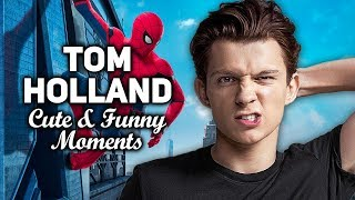 Tom Holland Cute & Funny Moments | Spider Man: Homecoming Interview