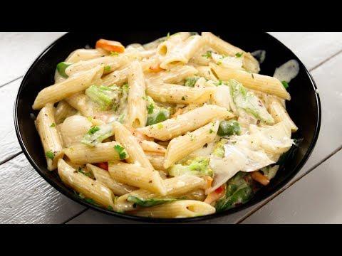 white sauce pasta की सबसे अनोखी रेसिपी - पास्ता वाइट सॉस में recipe - cookingshooking