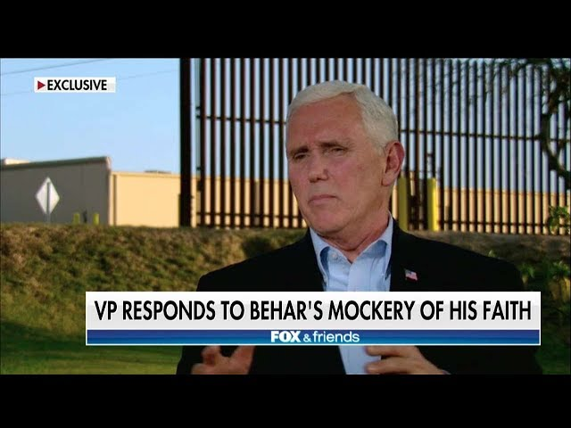 Pence Behars Comments About Faith Show How Out of Touch Some in the Media Are