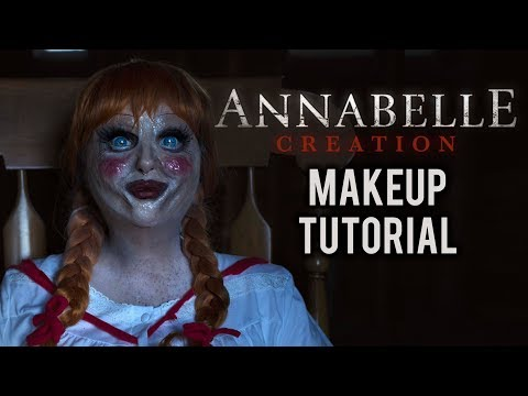 ANNABELLE   HALLOWEEN COSTUME MAKEUP TUTORIAL
