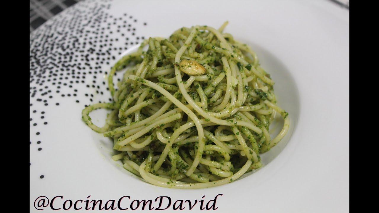 Espagueti al pesto de perejil cocina con david youtube for Espaguetis con ajo y perejil