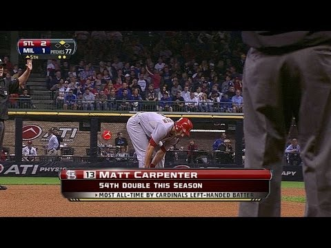 STL@MIL: Carpenter's double sets new Cardinals record