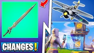 *ALL* Fortnite 7.01 Changes! | Mythic Infinity Blade, Big Creative Update, Airplane Nerf!
