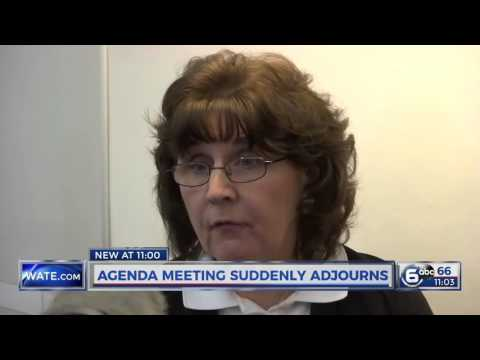 Commissioners suddenly adjourn meeting