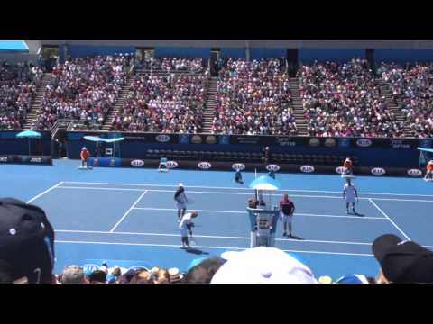 Bahrami Slow motion point without a ball Aussie open 2013