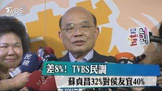差8%! TVBS最新民調:蘇貞昌32% VS. 侯友宜40%