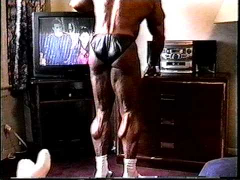 Bodybuilder Calves in Motel