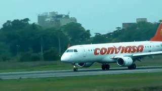 Embraer190-100AR Conviasa_Turn180º_Taxi and Takeoff  [Maturin Airport]