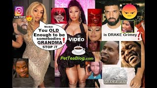 Drake Does Nicki Minaj Dirty, Steff London Calls her GRANDMA! Garbs Drag All 3 😲☕- ViDEO