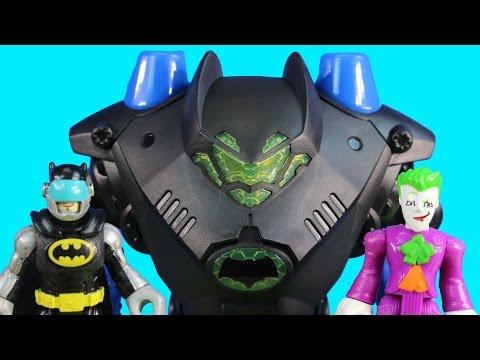 Imaginext Joker Bane & Riddler Track Batman & Robin At New Imaginext Robo Batbot Batcave Hideout