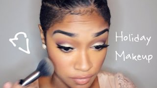 Soft Glam Holiday Makeup + Macy's Giveaway | Bri Hall
