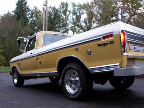 1974 Ford F250 Truck Trailer Special Exhaust sounds Dual Glasspacks - YouTube