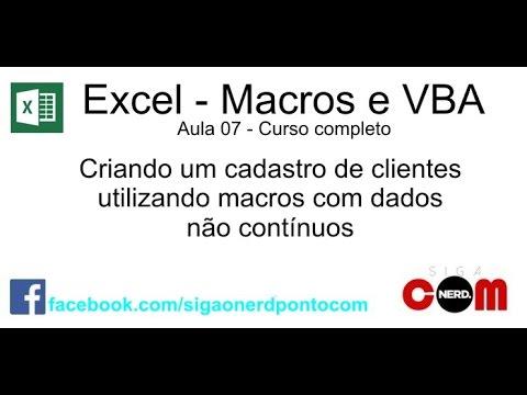 #07 - Macros e VBA - Excel - Curso Completo e Gratuito