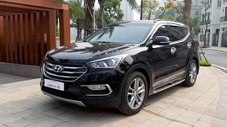 [BÁN GẤP] Hyundai SANTAFE máy dầu 2017 ĐẸP XUẤT SẮC [Xetot360]